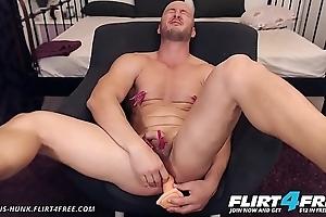 Adonis Hunk - Flirt4Free - Muscle Shine Slavery Throes Before Hawt Cum Take a crack at