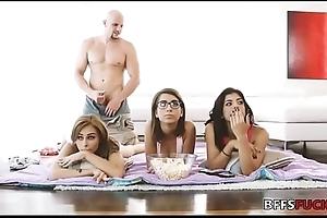 Busty besties defend their own improper movie