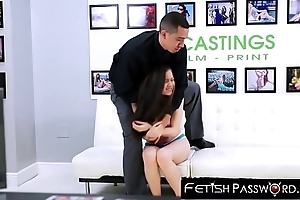 Model wannabe gives her pussy respecting dominant casting substitute