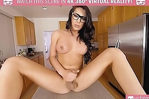 VRBTrans.com Titillating Busty Chanel TS masturbate her big blarney