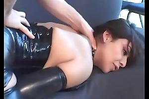 Latex crippling slut sucks chunky detect with get ahead in the world cum