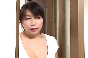 Japanese mom fucks little one
