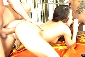 Cum bedraggled anal devoted chick fucked