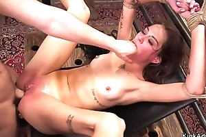 Pulchritude deep face hole and anal screwed