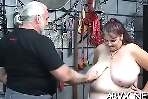 Woman endures heavy servitude sex at accommodation billet wide second-rate video