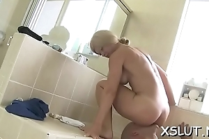 Appealing seductresssmothering her nifty ass on a lucky stud