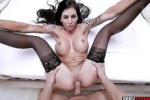 MILF stepmom in sexy lingerie got screwed for will not hear of birthday