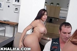 MIA KHALIFA - Youthful And Bonny Mia Khalifa Riding Dick, Eating Julianna Vega'_s Love tunnel