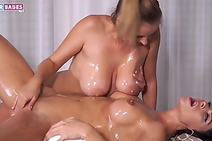 SUGARBABESTV: Obese BOOBS OIL MASSAGE