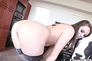 Enema coddle squirting from will not hear of tits coupled with ass