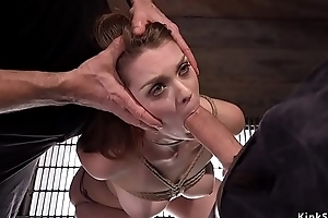 Two masters offing anal brunette