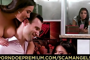 SCAM ANGELS - Wild team fuck with Gina Valentina, Karlee Age-old plus Cindy Starfall