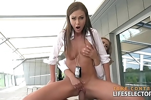 Unrestrained copper fucks sexy FBI agent girs and gangster honeys POV