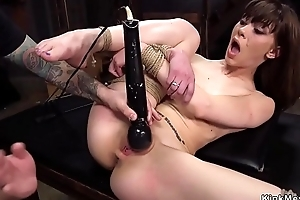 Night slave receives fisting training