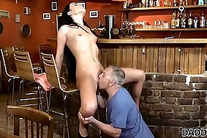 DADDY4K. Old and young lovers have fun when powerfully built boy catches 'em