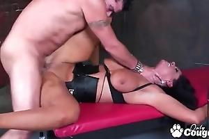 Voluptuous Angela Aspen Sucking Cock Stranger A Coop up