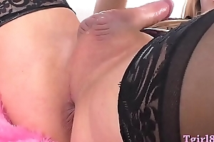 Order about ladyman anal toys increased by masturbates her hard cock