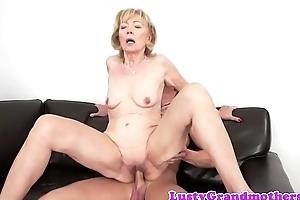 Cum loving granny enjoys sucking dig up