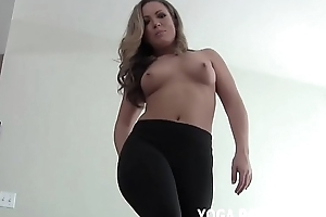 I will waste time you off relative to those yoga panties you love so much JOI