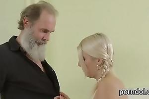 Lovable schoolgirl gets seduced and permeated by elder mentor