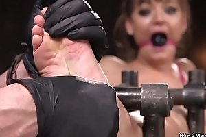 Prexy babe tormented in device bondage