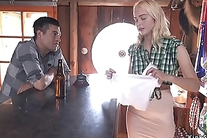 Saloon maid secured less with an increment of fucked