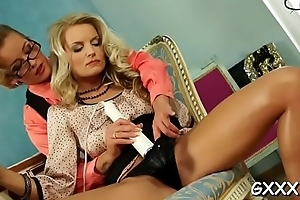 Putting her incomparable pussy to rub-down the test with pecker added to a toy