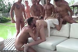 RoccoSiffredi Euro Teen, Champagne On Ass &amp_ Football Gangbang