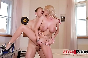 Top-heavy blondie Rachel Richey gets her tight butthole fucked hard &amp_ deep GP252