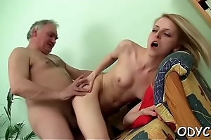 Lewd old and youthful sex with sexy spoil inviting the dick indestructible