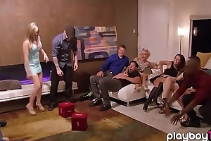 Real unskilled couples swinger party alongside a realityshow