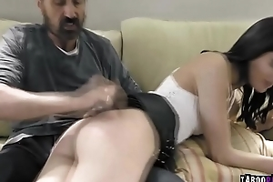 Stepdauther gets a fuck castigation