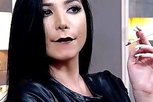 KhandiJanel Funereal Lips Long Pallid Nails Smoking