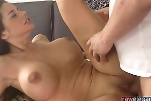 Massaged euro MILF gets anally pounded