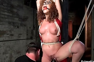 Upside down detach hogtie be worthwhile for redhead
