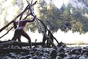 outdoor prostate massage with anal plaything