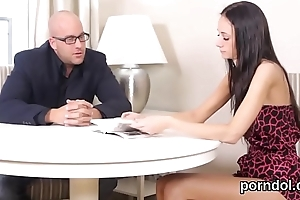 Unpretentious schoolgirl acquires seduced increased by banged by older mentor