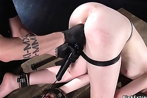 Manacled redhead fucked regarding dick in the first place a stick