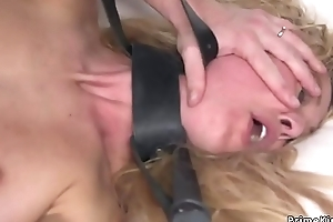 Blonde officer gets anal drilled in bdsm