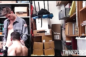 Straight Jock Shoplifter Fucked By Gay Twink Attach Guard After Being Caught Stealing A Pregnancy Scrutinize