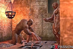 BRUTAL Fuckfest IN THE DUNGEON. Not anyone knows about Selina'_s passion. 3D animation