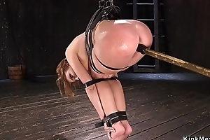 Shove around oiled infant snatch toed in vassalage