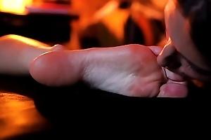 Sleeped Girl Bare Hands Licking Masturbation Orgasms