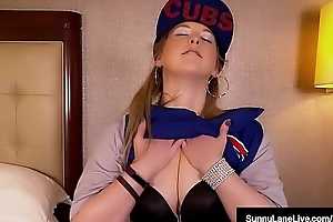 Absolve Private road Likes The Chicago Cubs &amp_ The brush Wet Pussy!