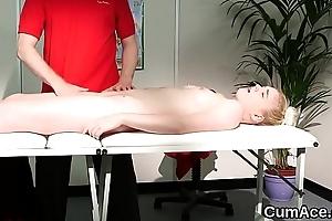 Kinky hottie gets jizz shot at bottom her face swallowing circa the jizm