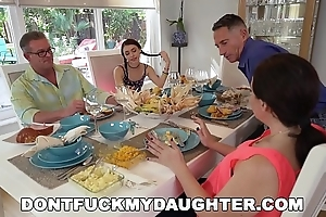 DON'_T FUCK MY Little one - Lucie Kline Takes Anal On Thanksgiving Stranger Her Dad'_s Team up
