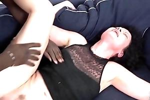 His huge knob makes the black cock sluts have multiple orgasms with hollering pleasure