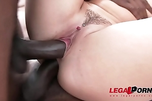 Blanche Bradburry interracial double anal with four mammal jocks