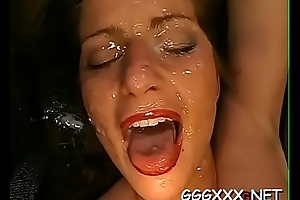 Hardcore gang gang bang with naughty women with pots of semen
